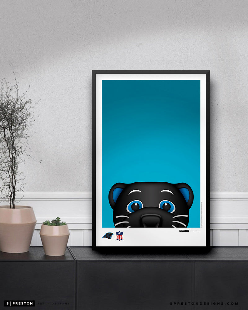 Minimalist Sir Purr Poster Print Carolina Panthers - S. Preston