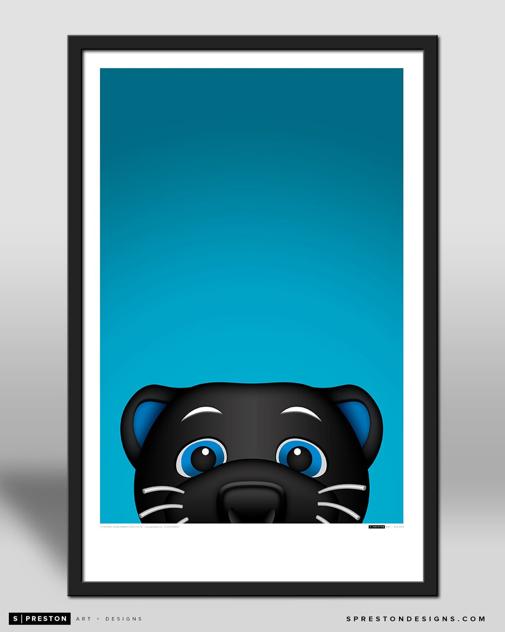 Minimalist Sir Purr by S. Preston - official mascot of the Carolina Panthers