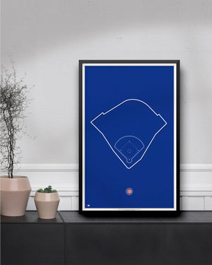 MLB Outline Ballpark - Wrigley Field Chicago Cubs - S Preston