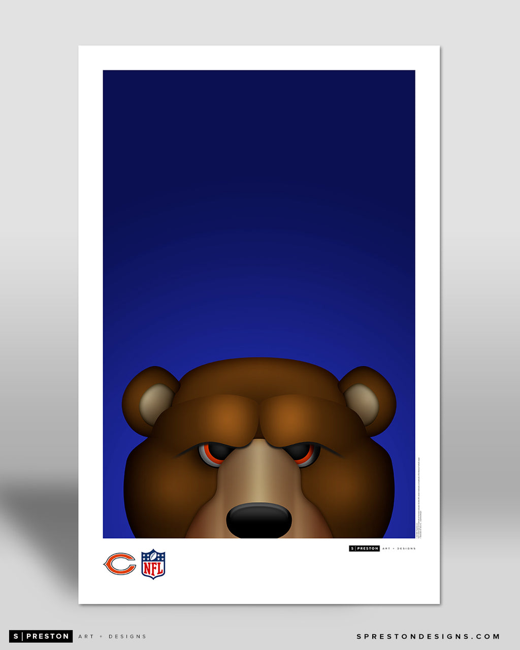 Minimalist Staley Da Bear Poster Print Chicago Bears - S Preston