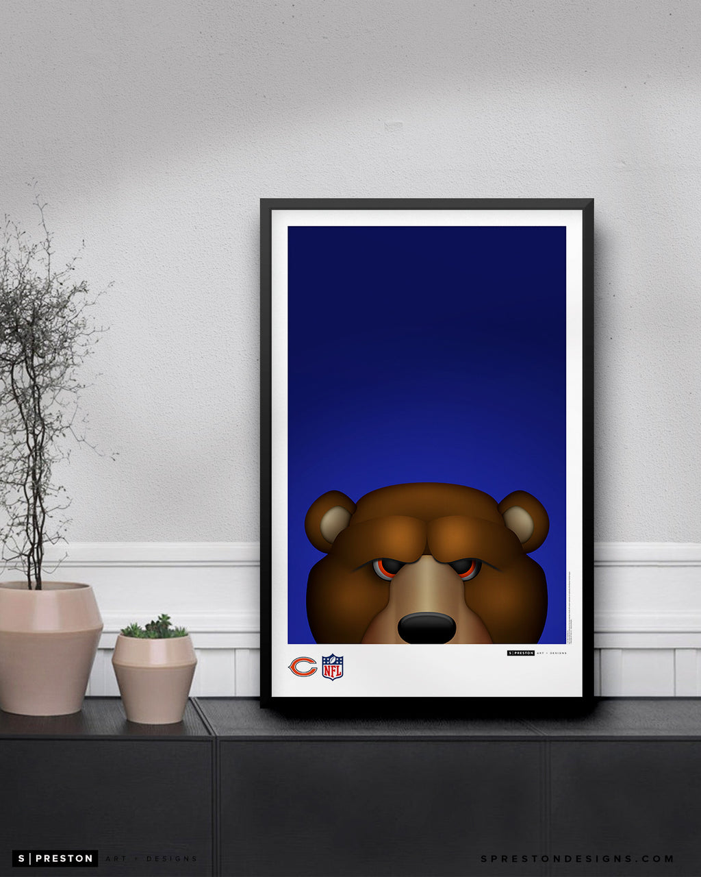 Minimalist Staley Da Bear Poster Print Chicago Bears - S. Preston