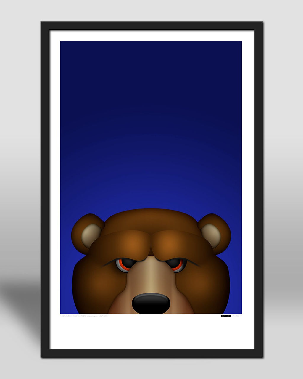 Minimalist Sta;ey Da Bear by S. Preston - official mascot of the Chicago Bears