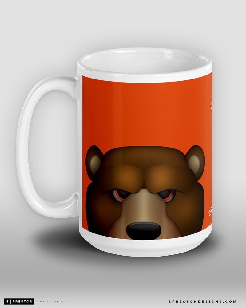 Minimalist Staley Da Bear Coffee Mug Chicago Bears Mascot  - S. Preston