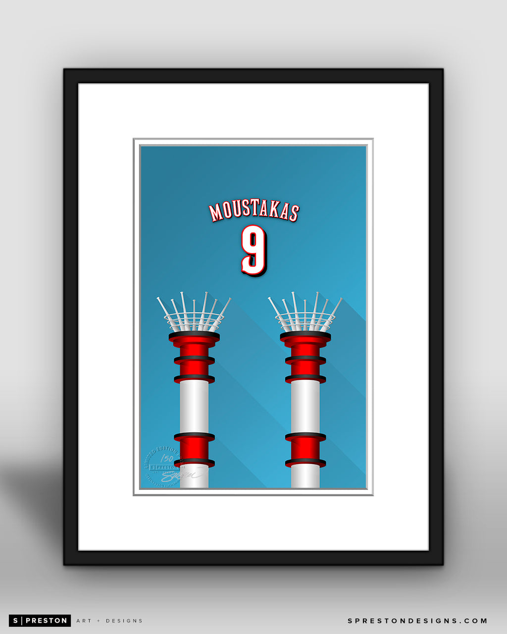 Minimalist Great American Ball Park - Player Series - Mike Moustakas