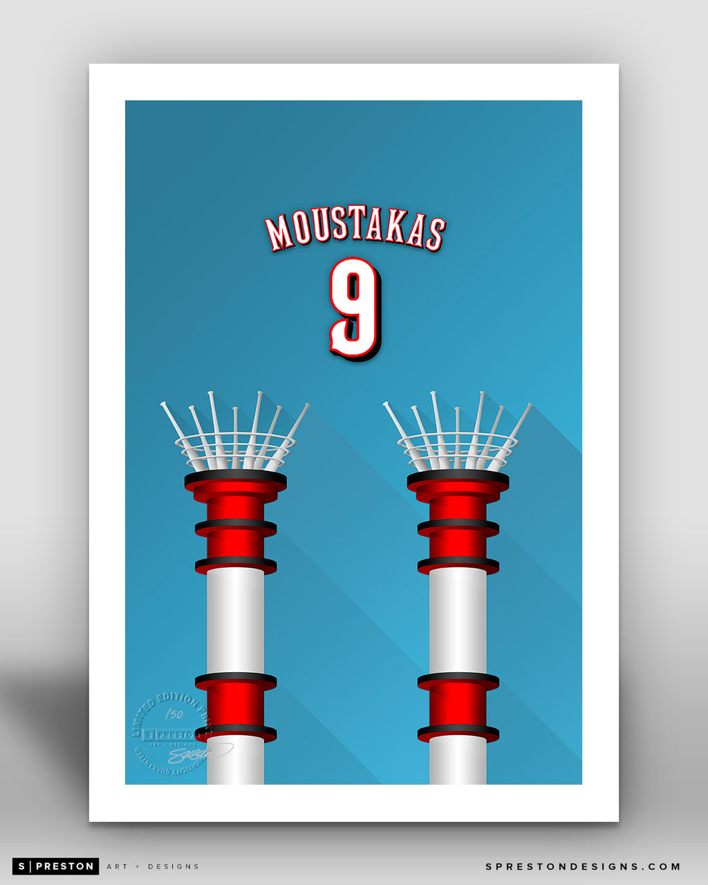 Minimalist Great American Ball Park - Player Series - Mike Moustakas - Cincinnati Reds - S. Preston