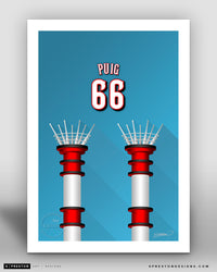 Minimalist Great American Ball Park - Player Series - Yasiel Puig