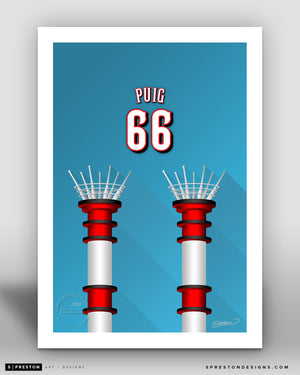 Minimalist Great American Ball Park - Player Series - Yasiel Puig - Cincinnati Reds - S. Preston