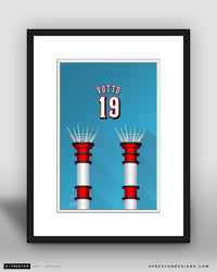 Minimalist Great American Ball Park - Player Series - Joey Votto