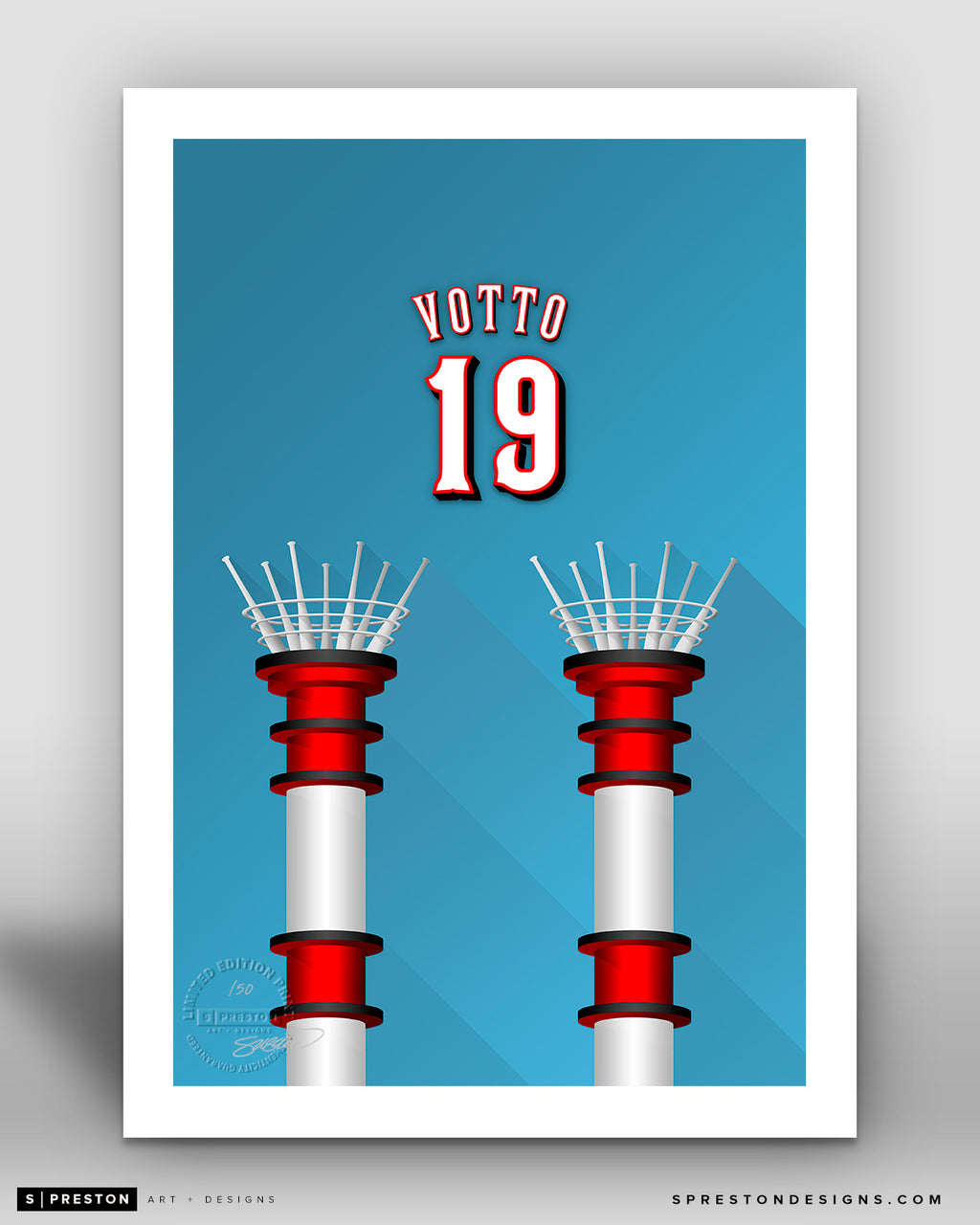 Minimalist Great American Ball Park - Player Series - Joey Votto - Cincinnati Reds - S. Preston