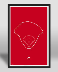 MLB Outline Ballpark - Great American Ball Park Cincinnati Reds - S Preston