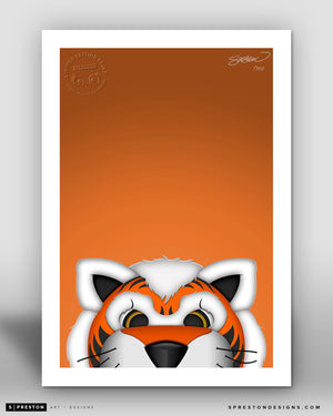 Minimalist Who Dey by S. Preston - official mascot of the Cincinnati Bengals