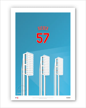 Minimalist Progressive Field - Player Series - Shane Bieber