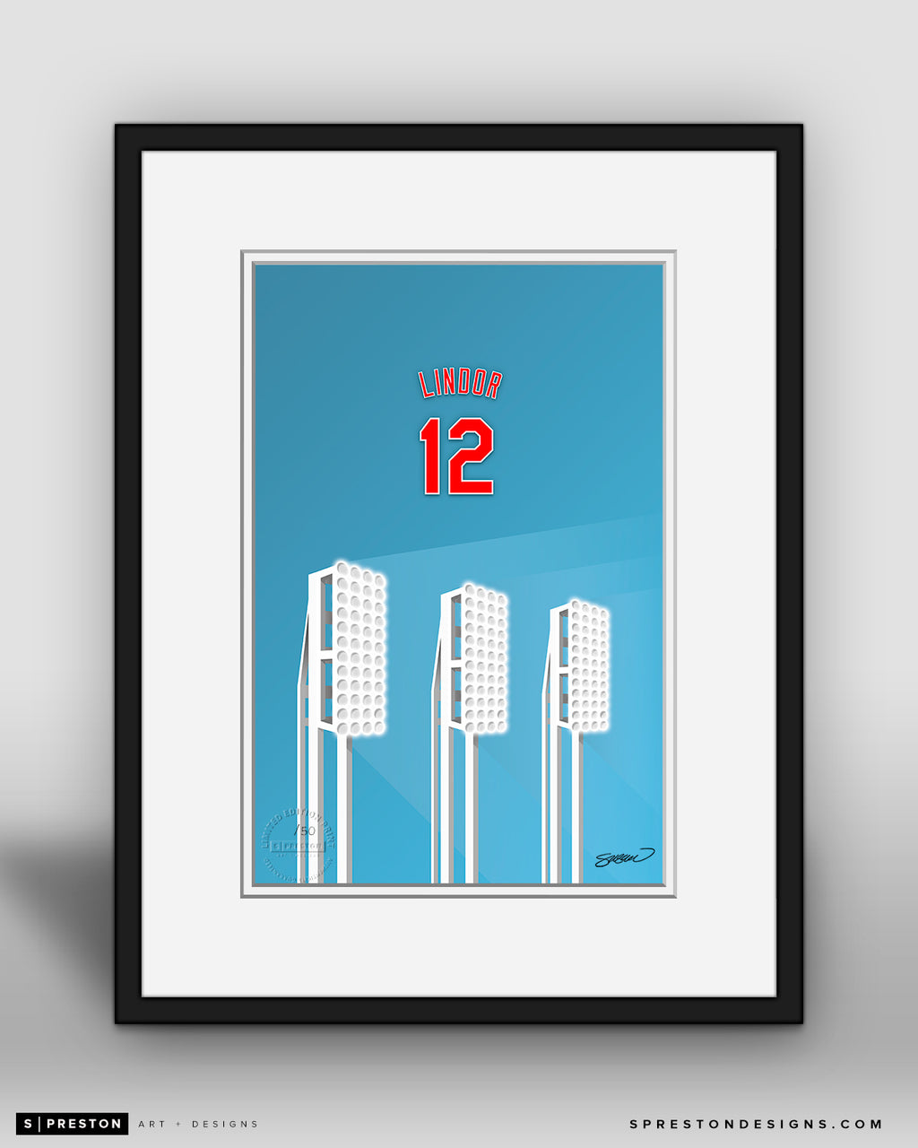Minimalist Progressive Field - Player Series - Francisco Lindor