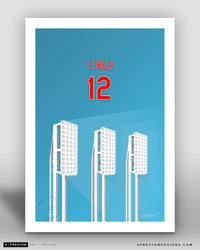 Minimalist Progressive Field - Player Series - Francisco Lindor - Cleveland Indians - S. Preston