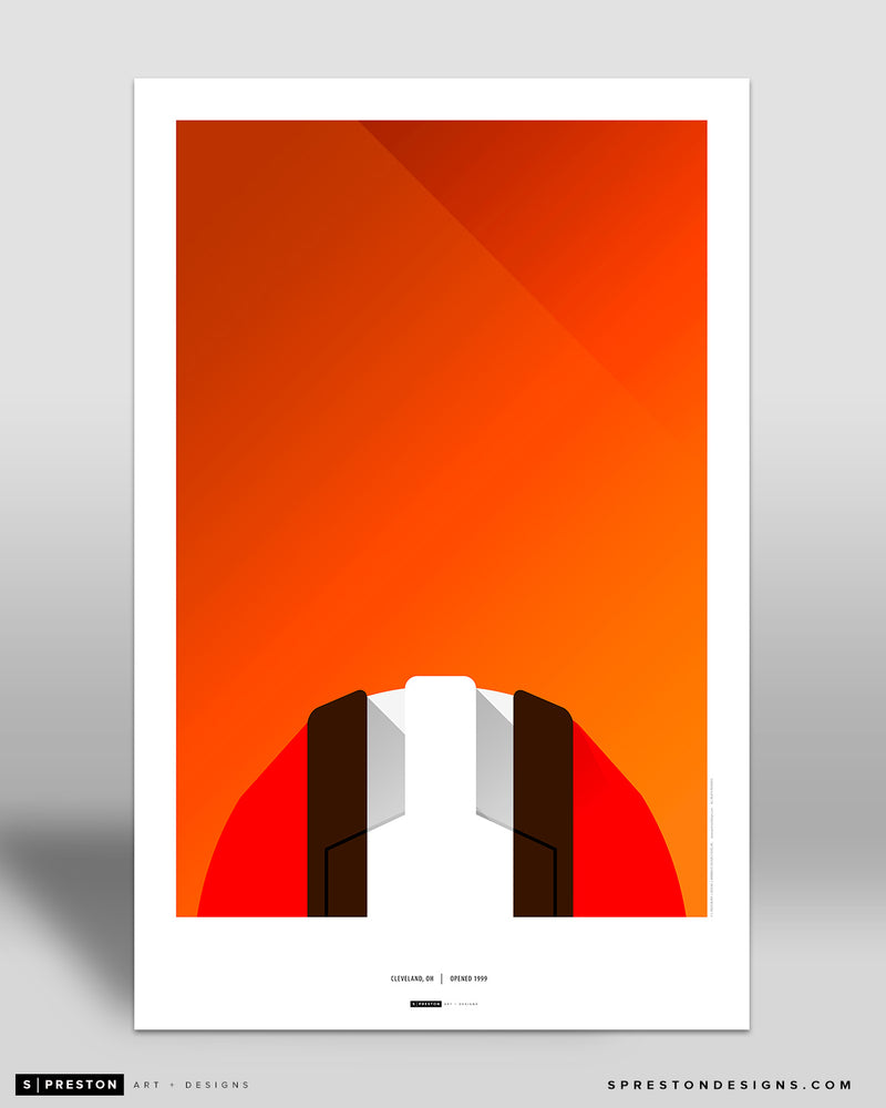 Minimalist FirstEnergy Stadium Poster Print Cleveland Browns - S Preston