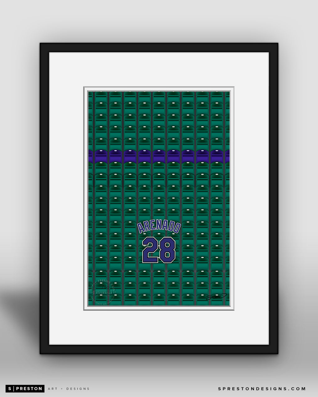 Minimalist Coors Field - Player Series - Nolan Arenado