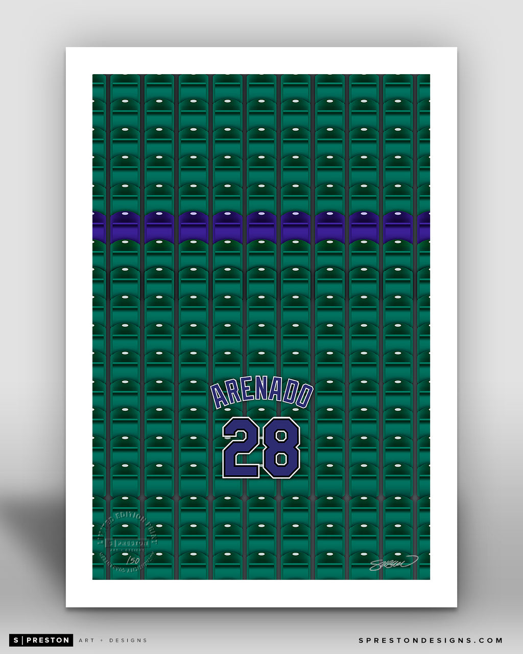 Minimalist Coors Field - Player Series - Nolan Arenado - Colorado Rockies - S. Preston