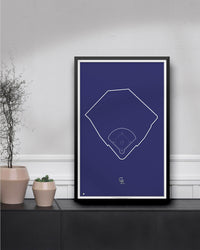 MLB Outline Ballpark - Coors Field Colorado Rockies - S Preston