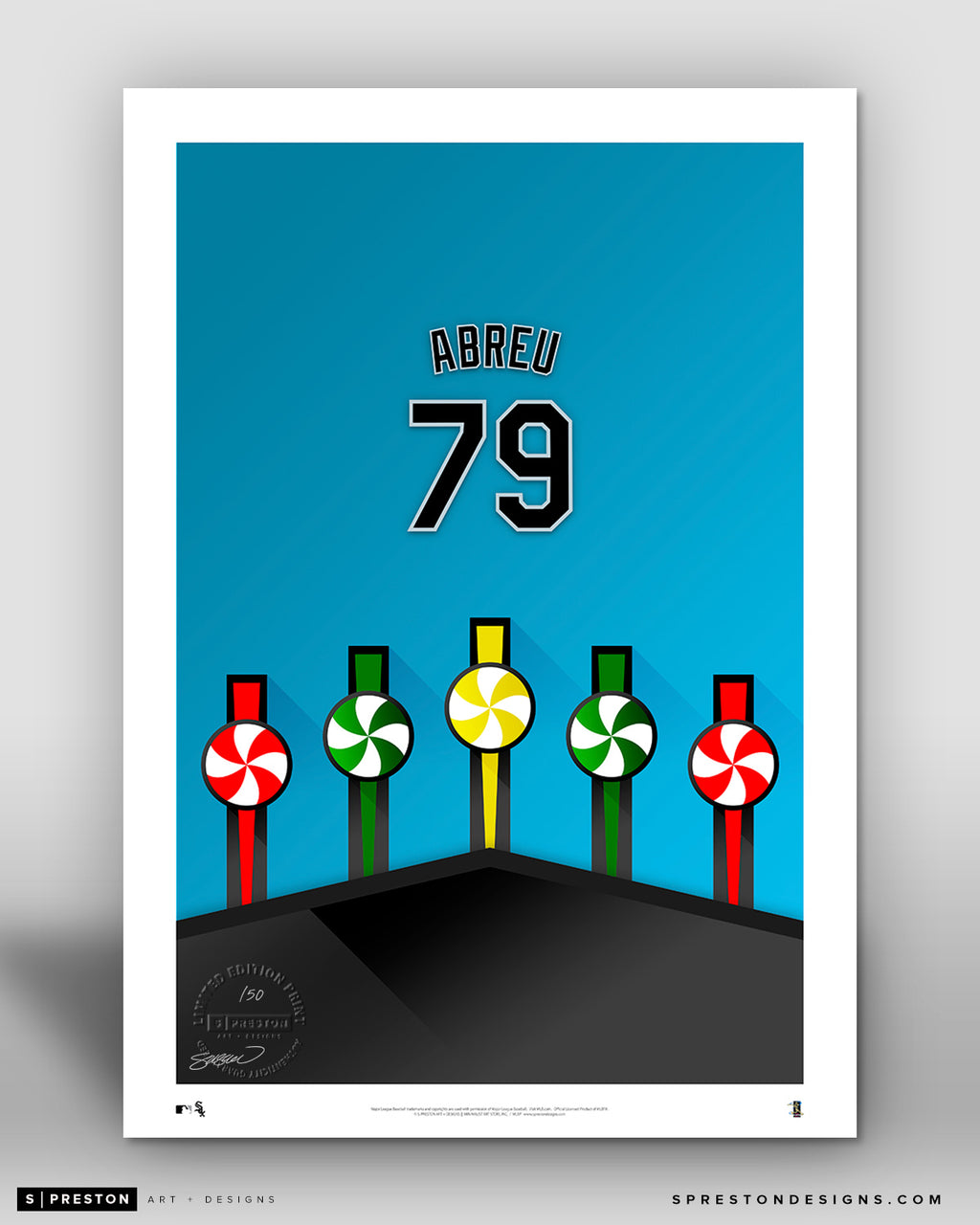 Minimalist Guaranteed Rate Field - Player Series - Jose Abreu - Chicago White Sox - S. Preston