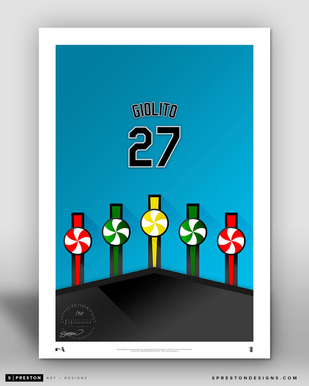 Minimalist Guaranteed Rate Field - Player Series - Lucas Giolito - Chicago White Sox - S. Preston