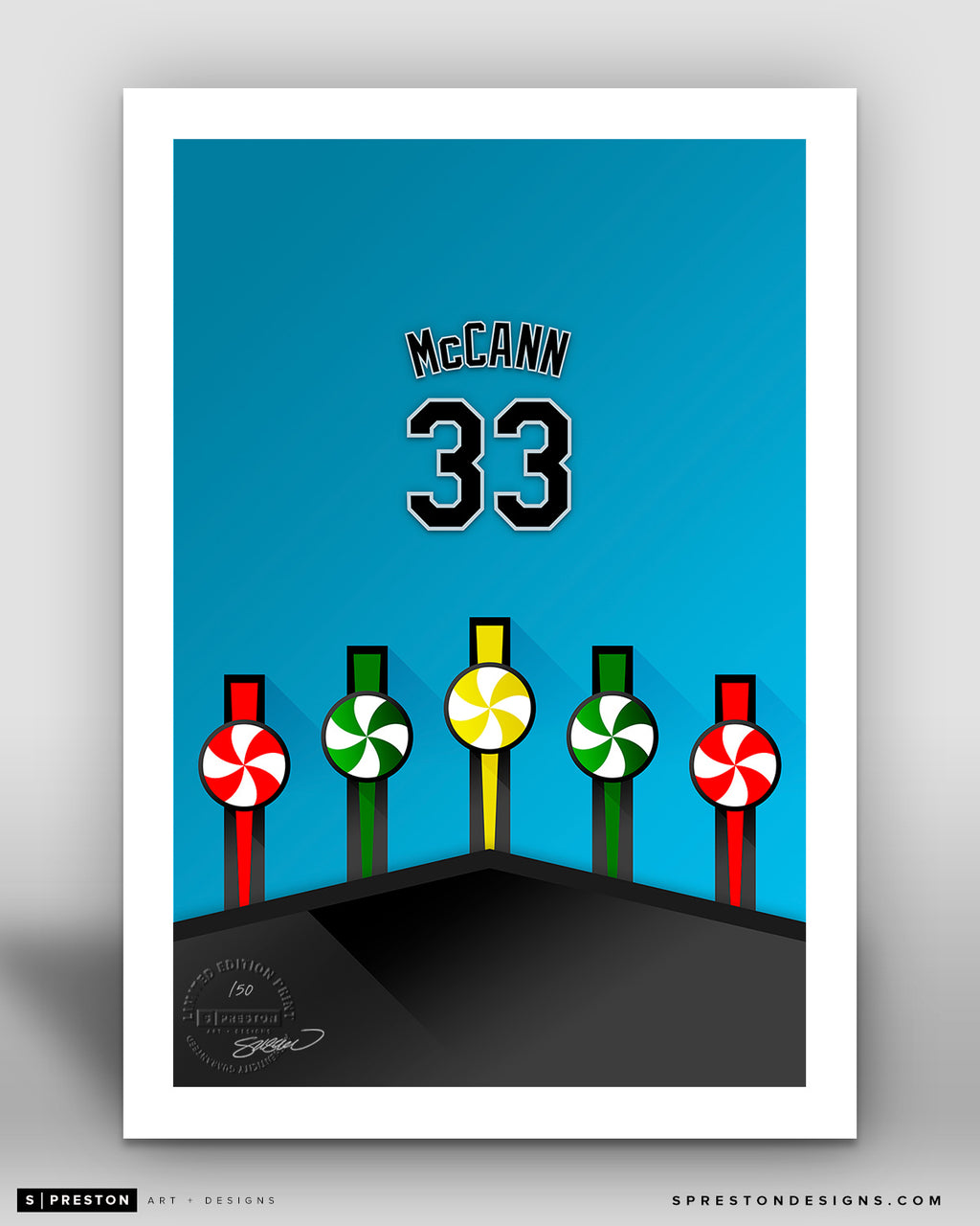Minimalist Guaranteed Rate Field - Player Series - James McCann - Chicago White Sox - S. Preston