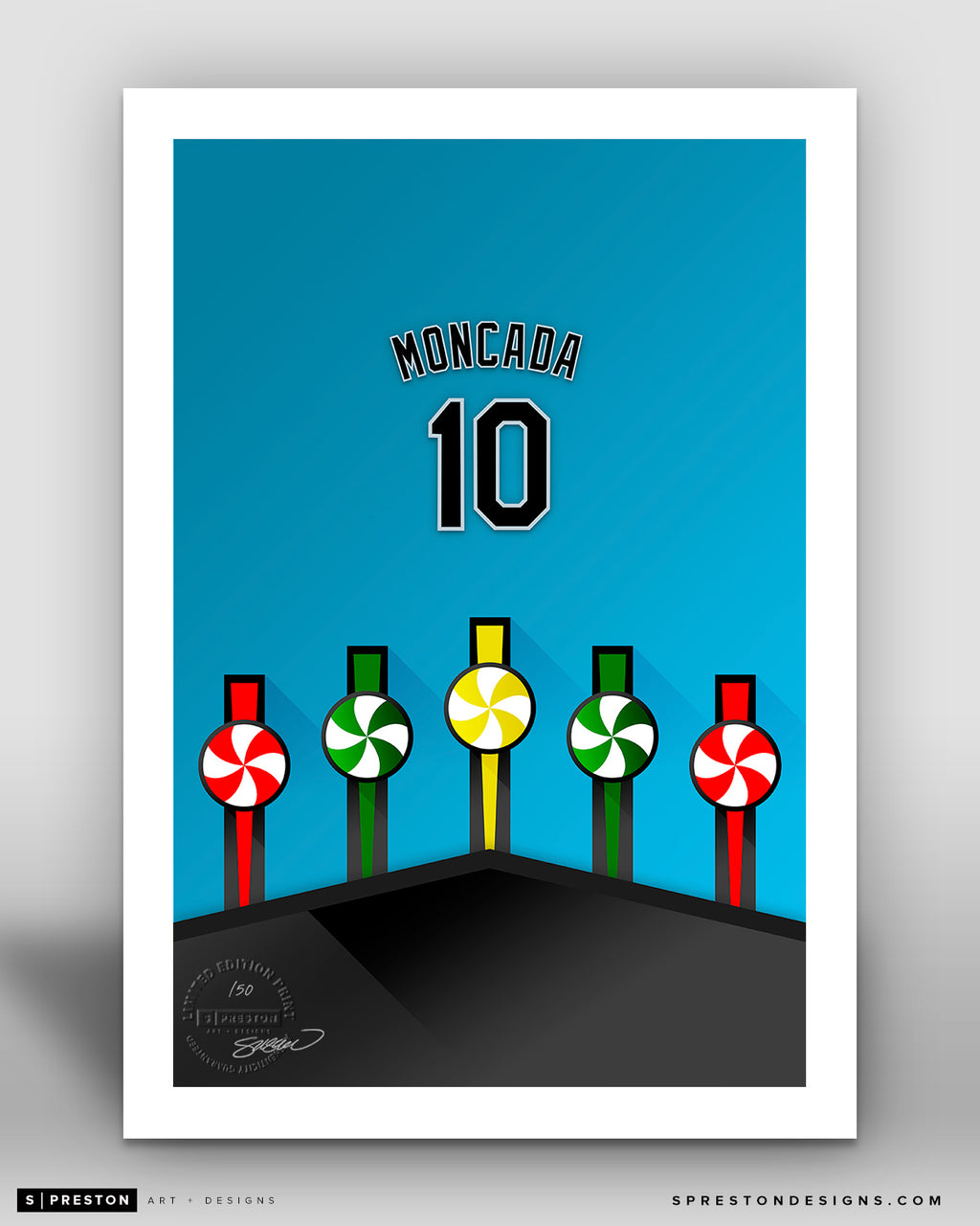 Minimalist Guaranteed Rate Field - Player Series - Yoan Moncada - Chicago White Sox - S. Preston
