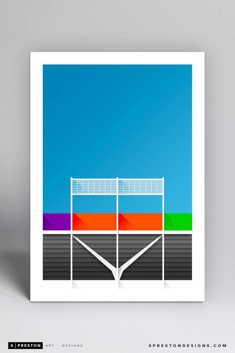Minimalist FedExField Art Print - Washington Redskins - S. Preston Art + Designs