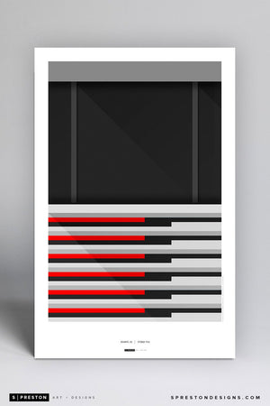 Minimalist Georgia Dome Art Poster Art Poster - Atlanta Falcons - S. Preston Art + Designs