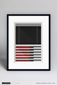 Minimalist Georgia Dome Art Print - Atlanta Falcons - S. Preston Art + Designs