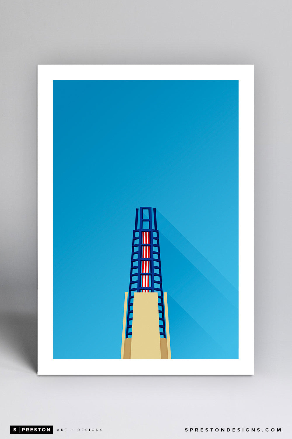 Minimalist Gillette Stadium Art Print - New England Patriots - S. Preston Art + Designs