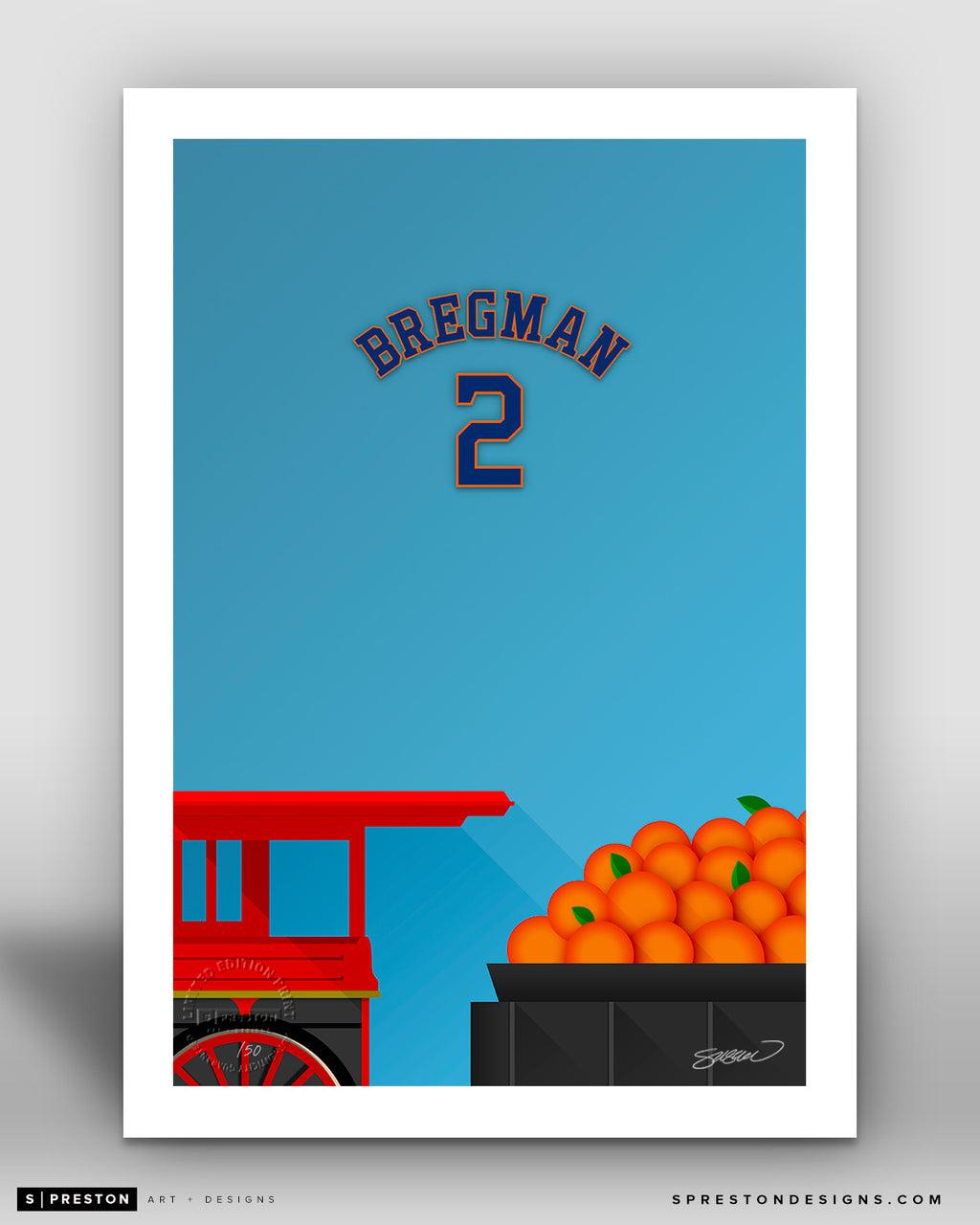 Minimalist Minute Maid Park - Player Series - Alex Bregman