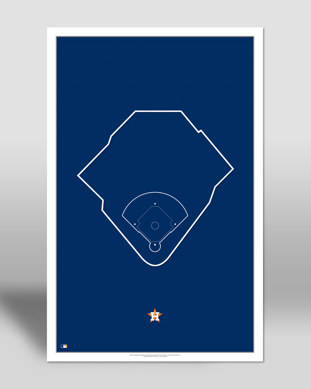 MLB Outline Ballpark - Minute Maid Park Houston Astros - S Preston