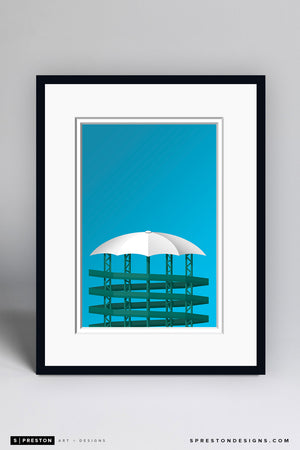 Minimalist Heinz Field Art Print - Pittsburgh Steelers - S. Preston Art + Designs