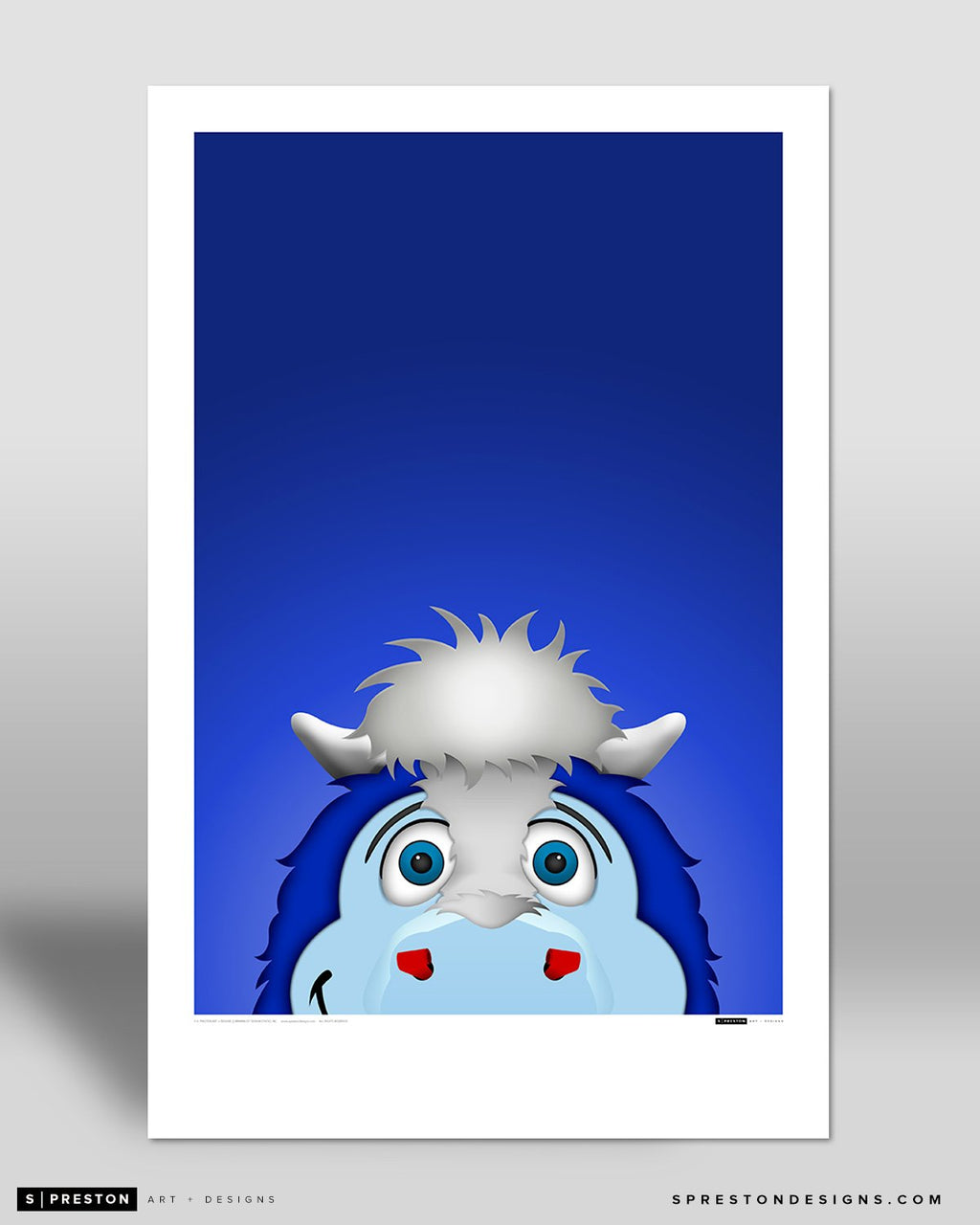 Minimalist Blue Art Poster Indianapolis Colts Mascot - S. Preston