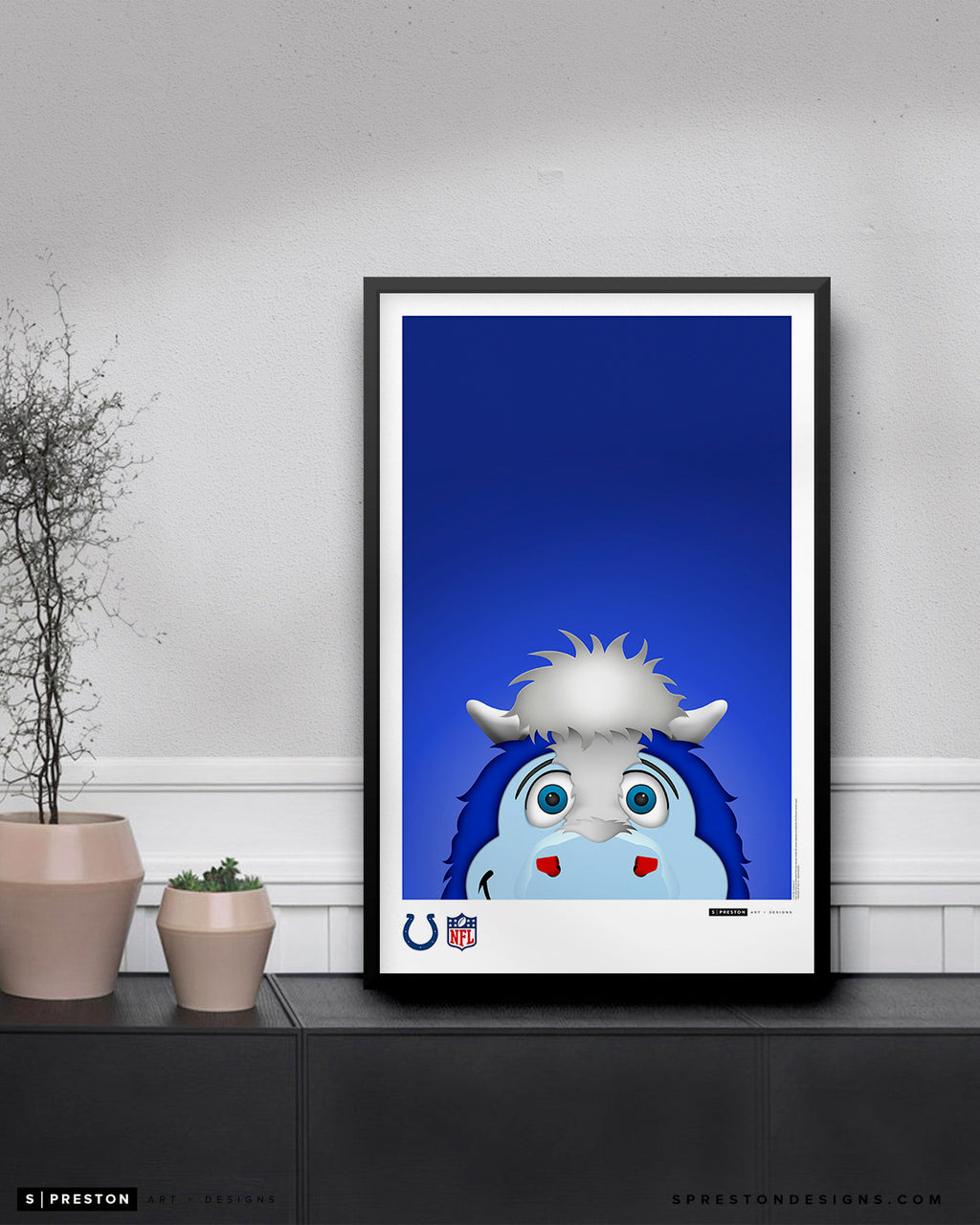 Minimalist Blue Poster Print Indianapolis Colts - S. Preston
