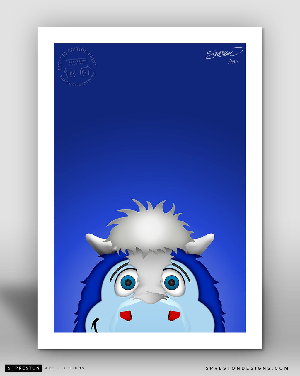Minimalist Blue Indianapolis Colts Mascot - S. Preston