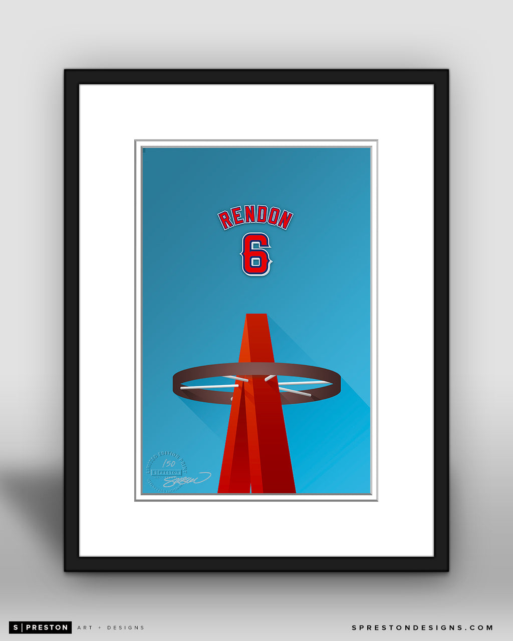 Minimalist Angel Stadium - Player Series - Anthony Rendon - Los Angeles Angels - S. Preston