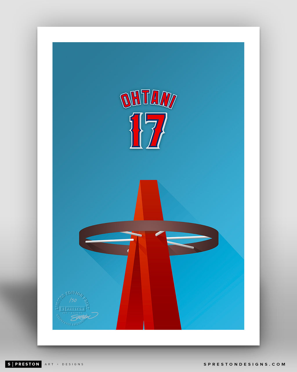 Minimalist Angel Stadium - Player Series - Shohei Ohtani