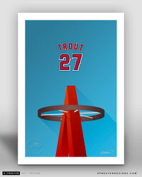 Minimalist Angel Stadium - Player Series - Mike Trout - Los Angeles Angels - S. Preston
