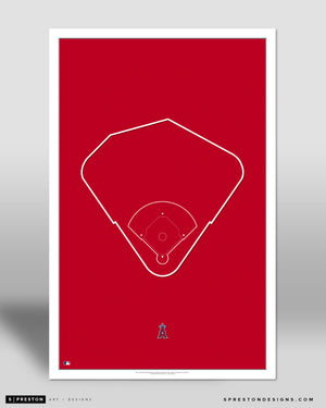 MLB Outline Ballpark - Angel Stadium Los Angeles Angels - S Preston