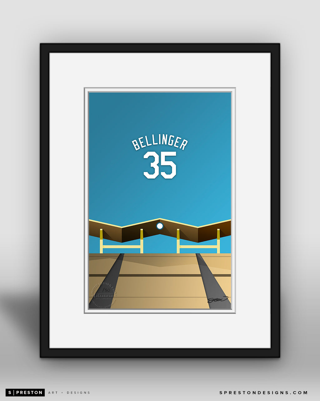 Minimalist Dodger Stadium - Player Series - Cody Bellinger