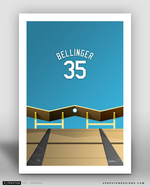 Minimalist Dodger Stadium - Player Series - Cody Bellinger - Los Angeles Dodgers - S. Preston