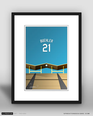 Minimalist Dodger Stadium - Player Series - Walker Buehler - Los Angeles Dodgers - S. Preston