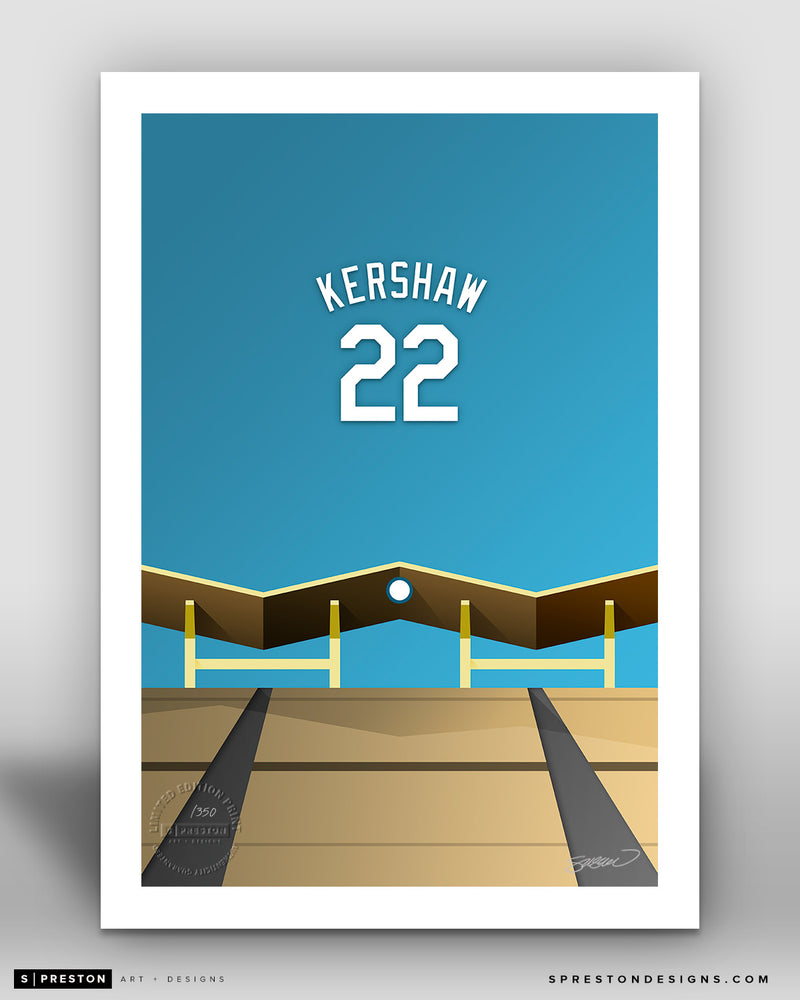 Minimalist Dodger Stadium - Player Series - Clayton Kershaw - Los Angeles Dodgers - S. Preston