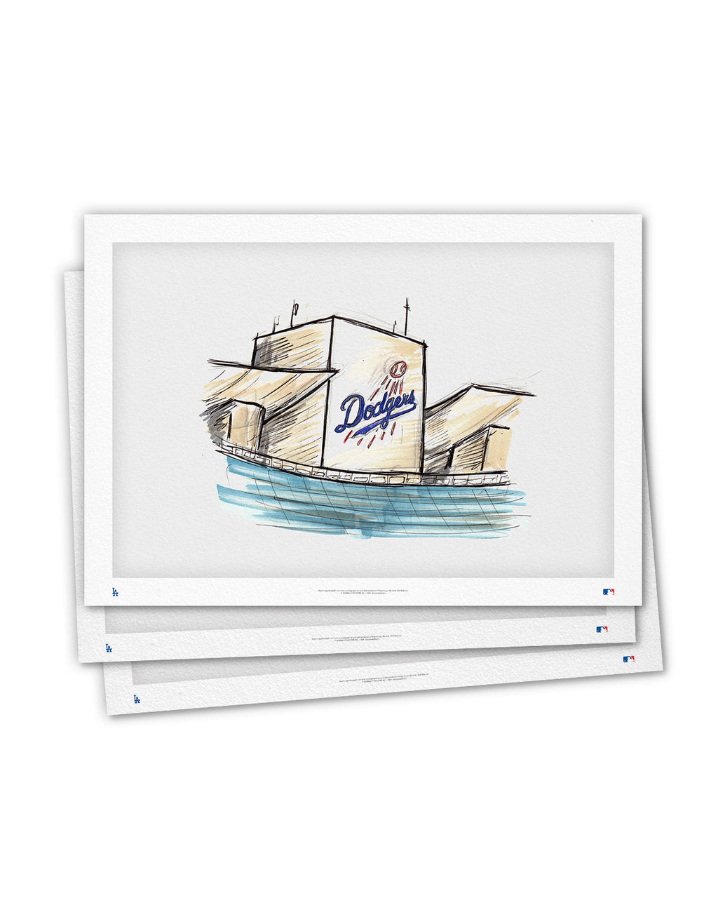 Dodger Stadium Ink Sketch Art Card (Top Deck)