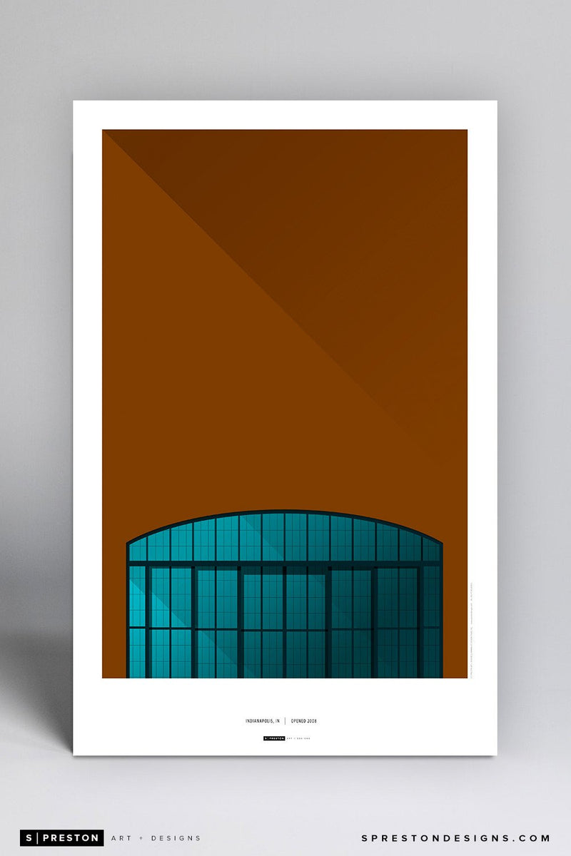 Minimalist Lucas Oil Stadium Art Poster Art Poster - Indianapolis Colts - S. Preston Art + Designs