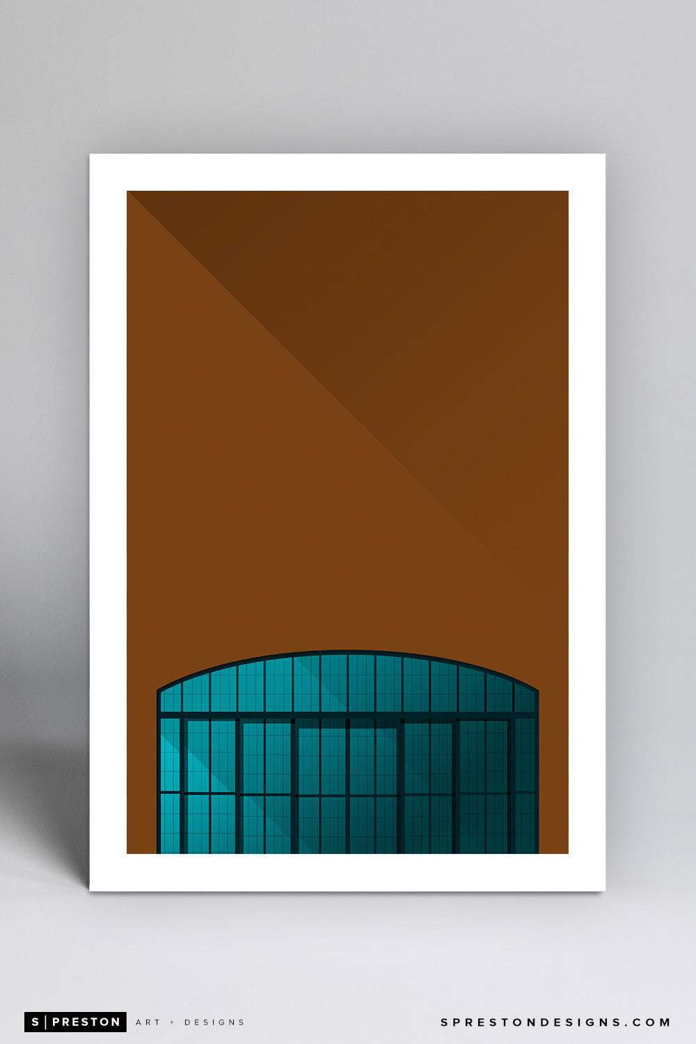 Minimalist Lucas Oil Stadium Art Print - Indianapolis Colts - S. Preston Art + Designs