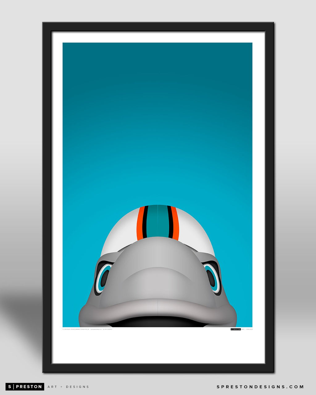 Minimalist T.D. by S. Preston - official mascot of the Miami Dolphins