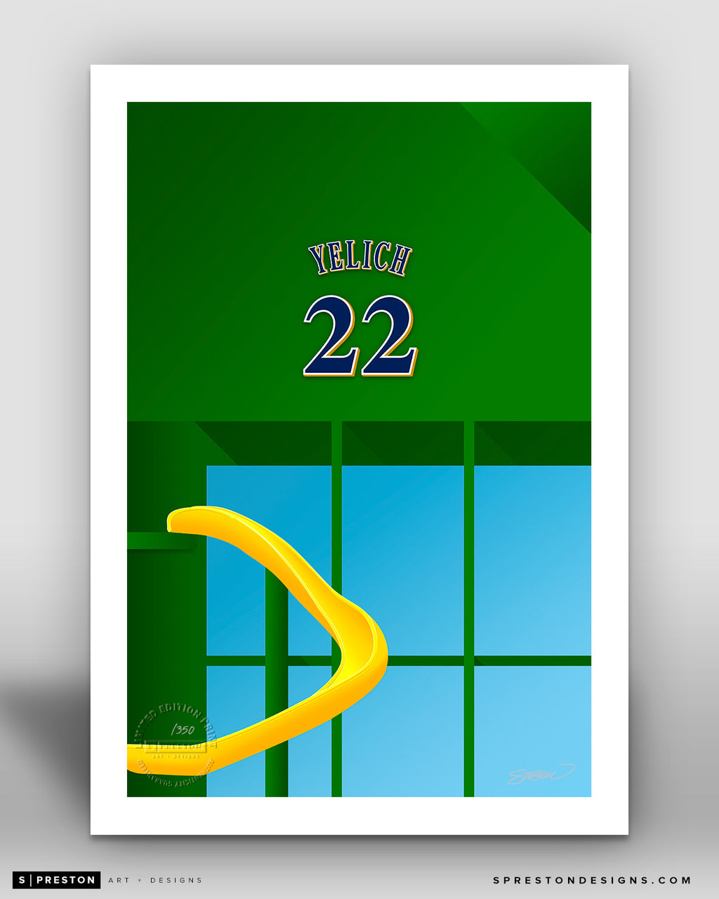 Minimalist Miller Park - Player Series - Christian Yelich - Milwaukee Brewers - S. Preston