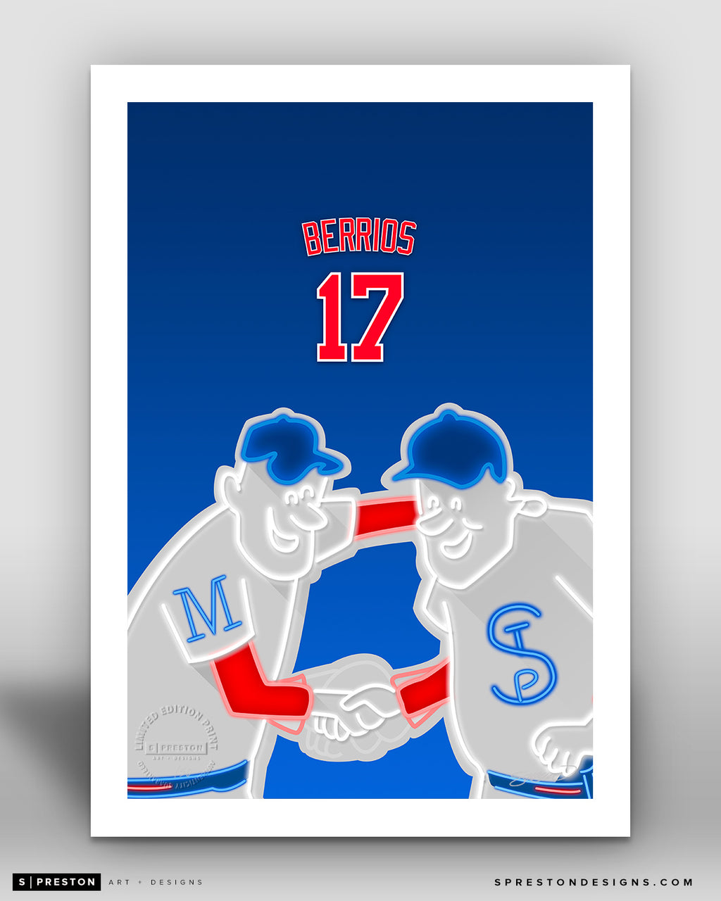 Minimalist Target Field - Player Series - Jose Berrios - Minnesota Twins - S. Preston